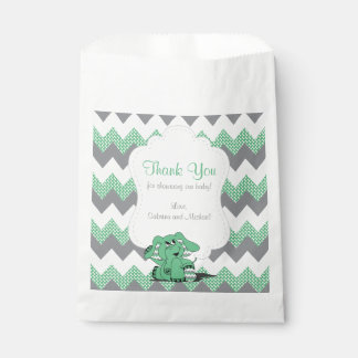 Funny Green Chevron Silly Cute Baby Elephant Favour Bags