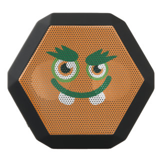 Funny Green-Eyed  Cute Monster. Black Bluetooth Speaker