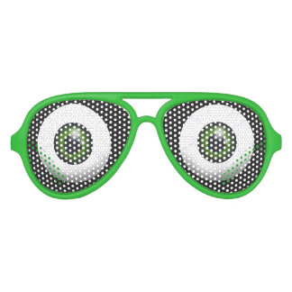 Funny Green Eyes Aviator Sunglasses