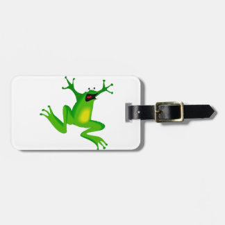 Funny Green Frog Luggage Tags