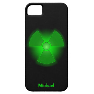 Funny green glowing radioactivity symbol iPhone 5 case