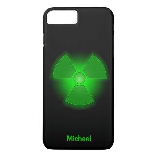 Funny green glowing radioactivity symbol iPhone 7 plus case