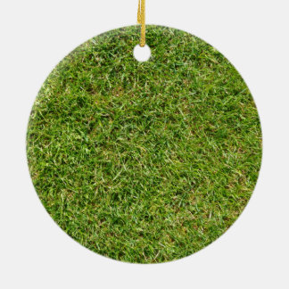 Funny Green Grass Lawn Round Ceramic Decoration
