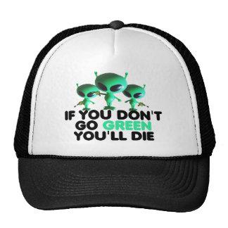Funny green trucker hats