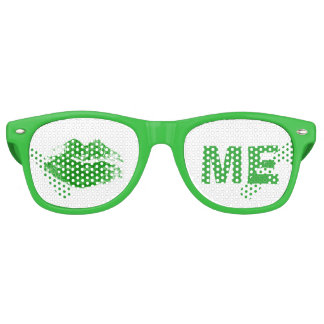 Funny Green Kiss Me Irish St. Patrick's Day Retro Sunglasses