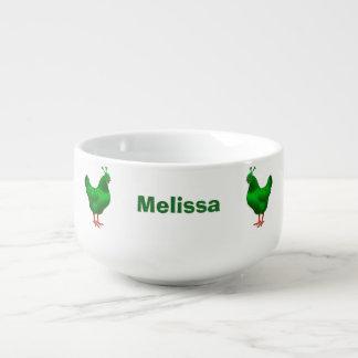 Funny Green Martian Alien Chicken Soup Mug