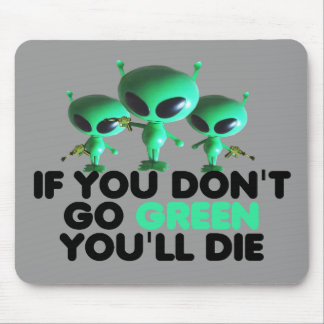Funny green mouse pad