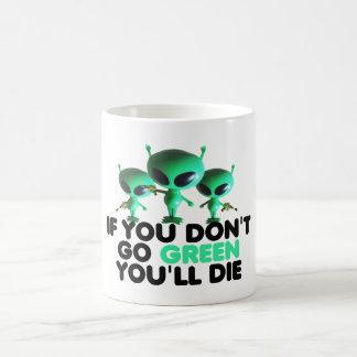 Funny green coffee mugs