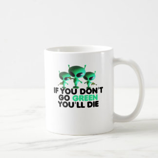 Funny green classic white coffee mug