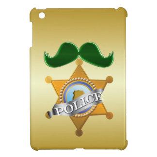Funny Green Mustache Police iPad Mini Case