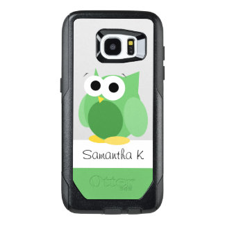 Funny Green Owl Personalise Samsung Galaxy S7 Edge