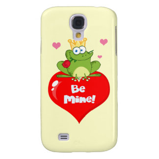 FUNNY GREEN PRINCE FROG RED HEART LOVE ROSES FLIRT GALAXY S4 CASES