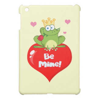 FUNNY GREEN PRINCE FROG RED HEART LOVE ROSES FLIRT iPad MINI CASE