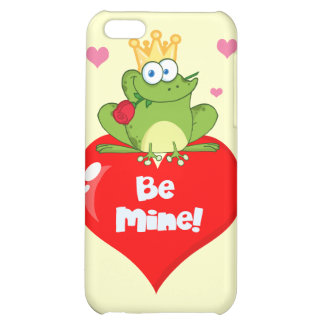 FUNNY GREEN PRINCE FROG RED HEART LOVE ROSES FLIRT iPhone 5C CASE