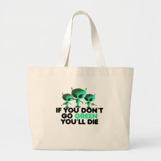 Funny green canvas bags