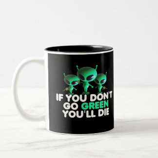Funny green Two-Tone coffee mug