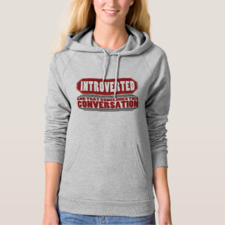 Funny Grey Introvert Pullover Hoodie