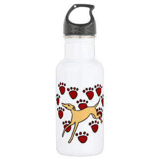 Funny Greyhound Puppy Love 532 Ml Water Bottle