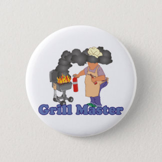 Funny Grill Master Barbecue 6 Cm Round Badge