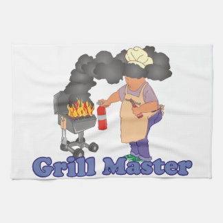 Funny Grill Master Barbecue Tea Towels