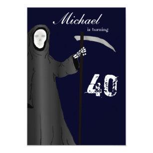Birthday jokes invitations announcements zazzle funny grim reaper birthday party invitation stopboris Choice Image