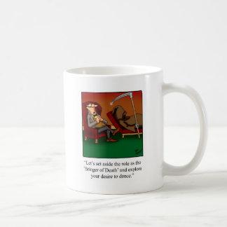 Funny Grim Reaper Dance Cartoon Coffee Mug