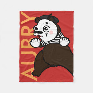 FUNNY GRIZZLY BEAR MIME FLEECE BLANKET