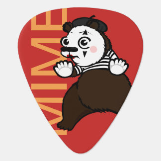 FUNNY GRIZZLY BEAR MIME GUITAR PICK