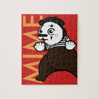 FUNNY GRIZZLY BEAR MIME PUZZLE