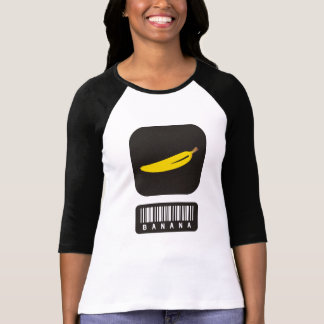 Funny Grocery Barcode Graphic Banana T-Shirt