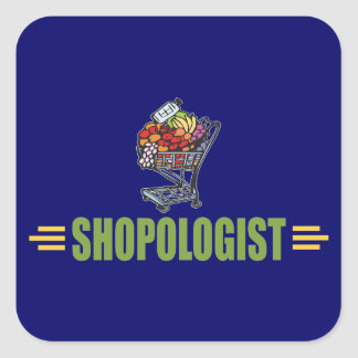 Funny Grocery Shopping Square Sticker