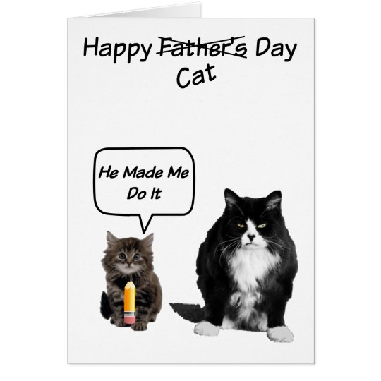 Funny Grumpy Cat Father's Day Cards