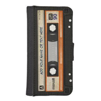 Funny Grunge 80s Retro Music Cassette Tape iPhone SE/5/5s Wallet Case