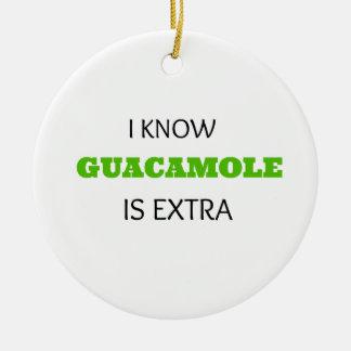 Funny Guacamole EXTRA Christmas Ornament