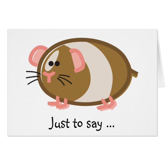 Funny Guinea Pig on White Card