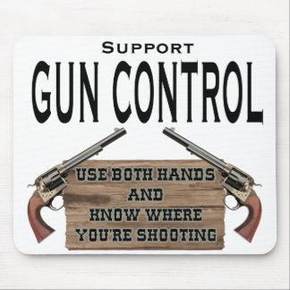 Funny Gun Control Mouse Pad #1