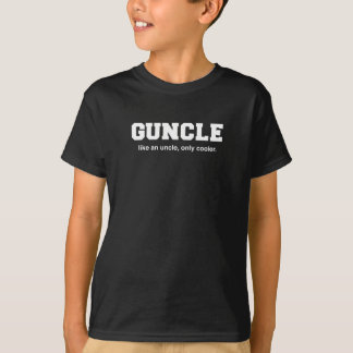 Funny Guncle College Print T-Shirt