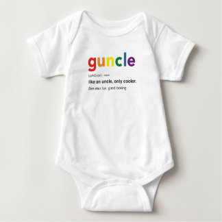 Funny Guncle Definition Print Baby Bodysuit