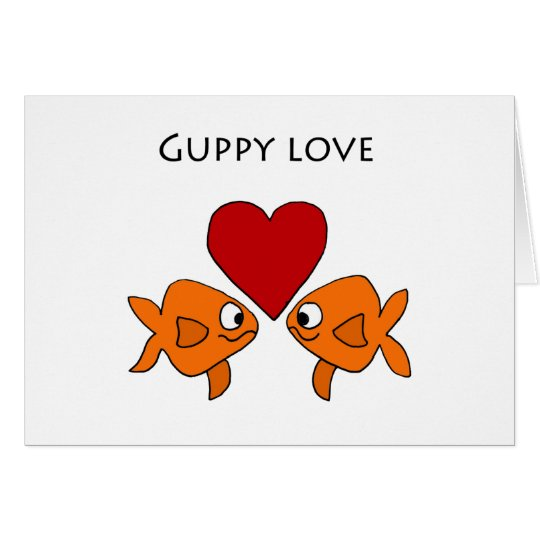 Funny Guppy Love Design Card