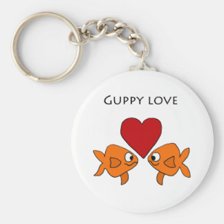 Funny Guppy Love Design Key Ring