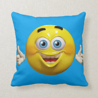 Funny guy 3d emoticon with okay sign cushion