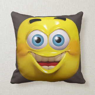 Funny guy 3d emoticon with okay sign throw pillow