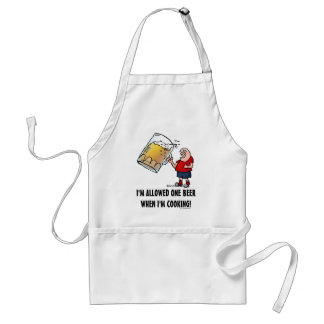 Funny Guy With Just One BIG Beer Standard Apron