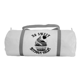 Funny gym bag, no sweet without sweat gym duffel bag