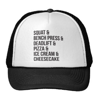 Funny Gym Humor - Pizza, Ice Cream, Cheesecake Cap