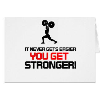 Funny Gym quote design Greeting Card