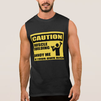 Funny Gym T Shirts,muscle building Sleeveless Shirts