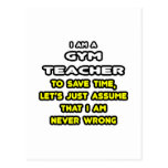 Funny Gym Teacher T-Shirts and Gifts Postcard