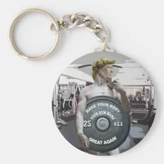 Funny Gym Workout David As Donald Trump Half Body Key Ring