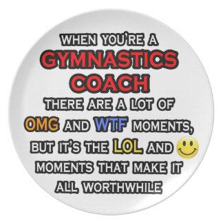 Funny Gymnastics Coach ... OMG WTF LOL Plate